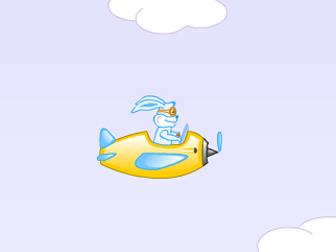 漫画背景素材兔子