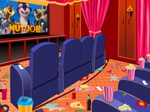 打扫电影院