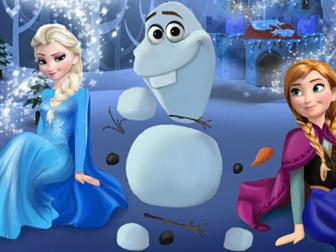 冰雪奇缘姐妹堆雪宝